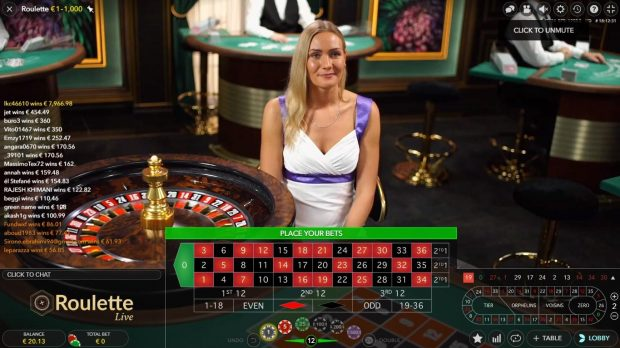 roulette en ligne evolution gaming